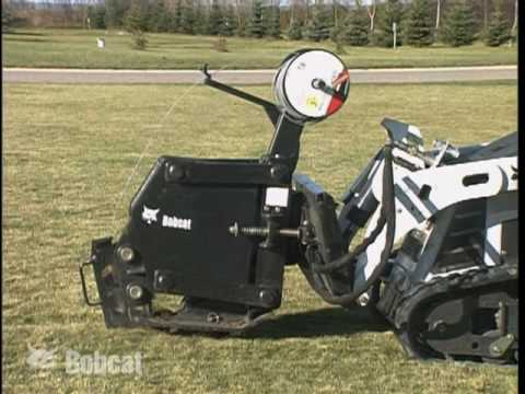 Bobcat Vibratory Plow Attachment Youtube