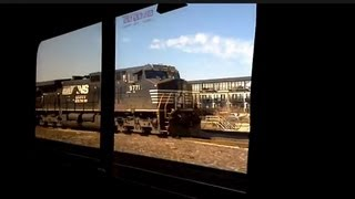 Leaving Chicago on board the Amtrak California Zephyr #5