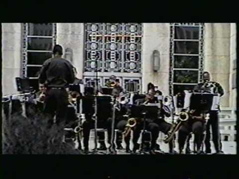 Gerardo Davila on sax, TSU Big Band 1996