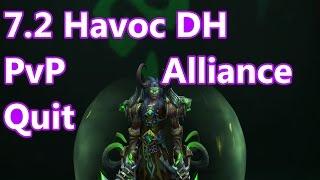 WoW - 7.2 Havoc Demon Hunter PvP - Alliance Quitting  - Battleground w/Commentary