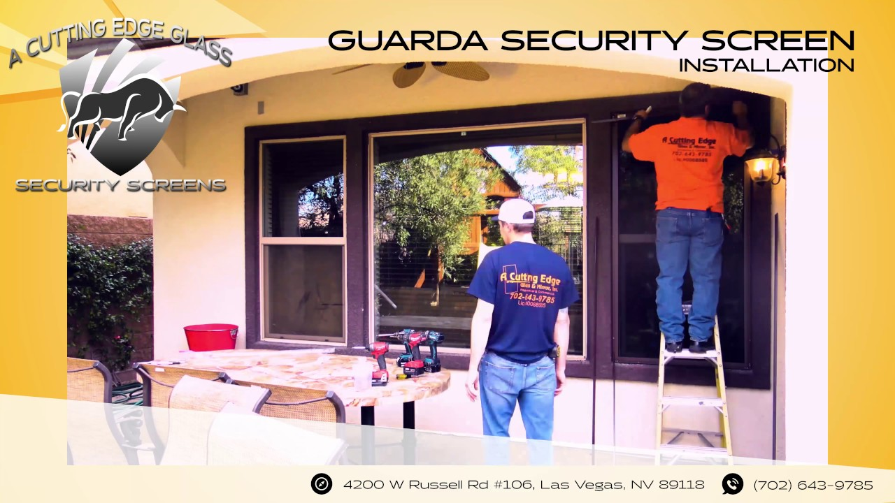 A Cutting Edge Glass Mirror Guarda Security Screen Timelapse Youtube