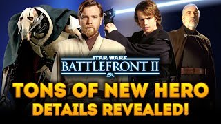 TONS OF NEW HERO DETAILS REVEALED! General Grievous, Kenobi Voice Lines! - Star Wars Battlefront 2