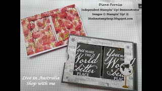 #22 Theatre Card Using World Of Good Suite From Stampin' Up!