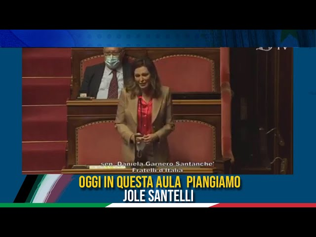 L' On. Santanchè interviene in commemorazione di Jole Santelli
