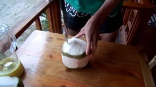 Как открыть кокос - самый простой способ как открыть кокос