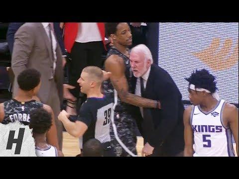Gregg Popovich Gets Ejected - Kings Vs Spurs   March 31, 2019   2018-19 NBA Season