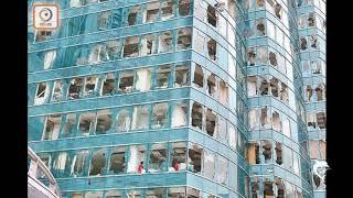 香港紅墈海濱廣場商廈在颱風山竹 之後! HONG KONG NEWS 2018
