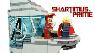 Lego Attack On Avengers Tower Age Of Ultron Movie Building Playset Toy Review