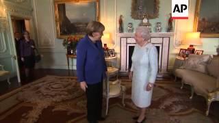 Queen Elizabeth II meets German Chancellor Merkel
