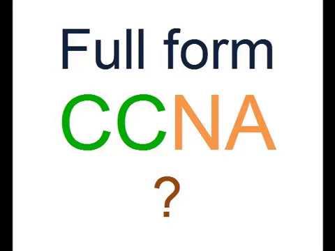 Full Form of CCNA ? - YouTube