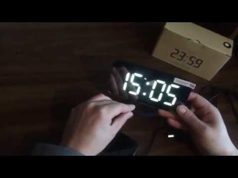 Зеркальные Led часы