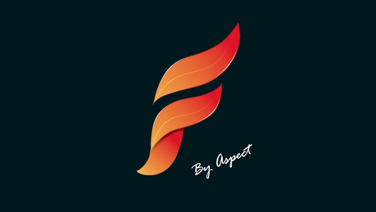 speed-art  - lettre  u0026quot f u0026quot  en forme de feuille  illustrator