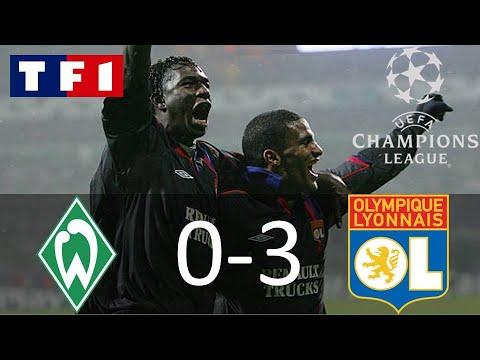 Werder Brême 0-3 Olympique Lyonnais   8ème de finale Aller   Ligue des Champions 2004-2005   TF1/FR