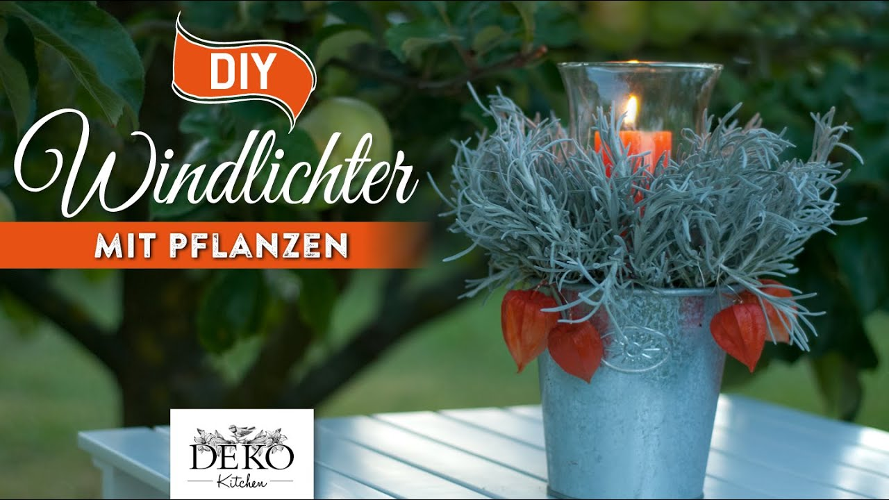 diy tolle herbst windlichter mit pflanzen schnell. Black Bedroom Furniture Sets. Home Design Ideas