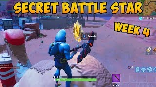 "WEEK 4 ""SECRET"" BATTLE STAR LOCATION! (Fortnite Season 5 Challenge"