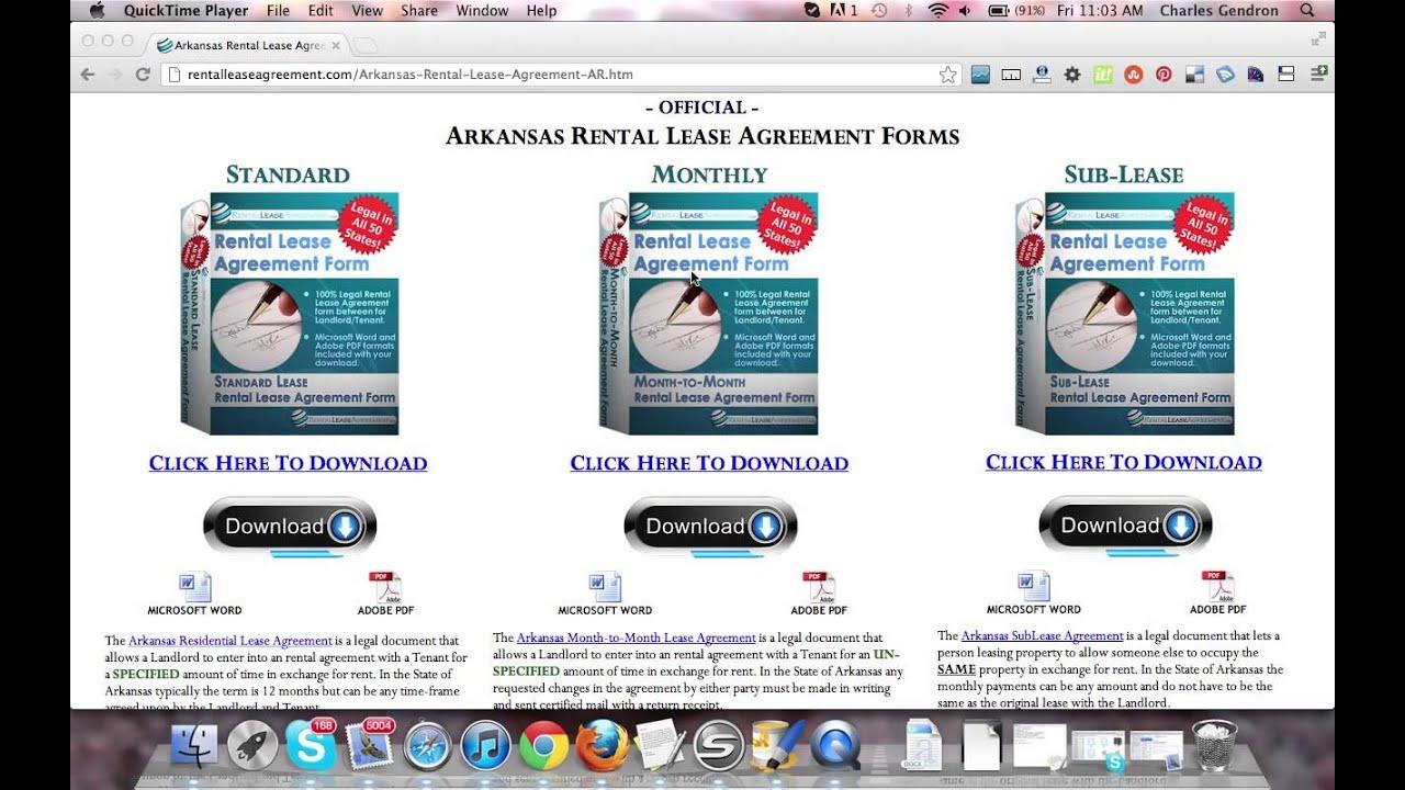 Arkansas Rental Agreement
