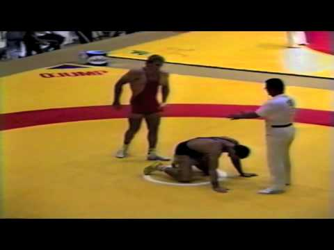 1987 Senior World Championships: 100 kg Julius Strnisko (CSSR) vs. Istvan Robotka (HUN