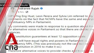 """Singapore Ge2020: Alternative Voices """"hardwired"""" Into Parliament, Says Indranee Rajah"""