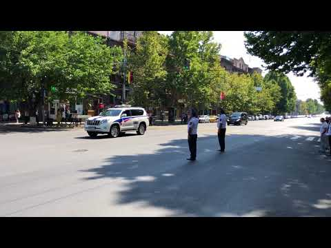 Кортеж Канцлера Германии Ангела Меркель в Ереване 24.08.2018