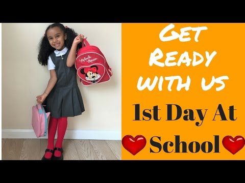 1st Day At School - Get Ready With Us - MORNING ROUTINE - School Run - Running late - Mixed Kids -❤️