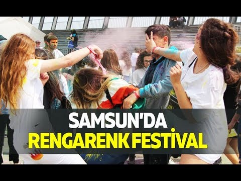 Samsun'da rengarenk festival