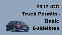 2017 ICC Truck Permits  |  Basic Guidelines