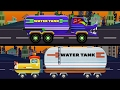 Water Tank War   Good vs Evil   Scary Street Vehicles   Videos for Kids