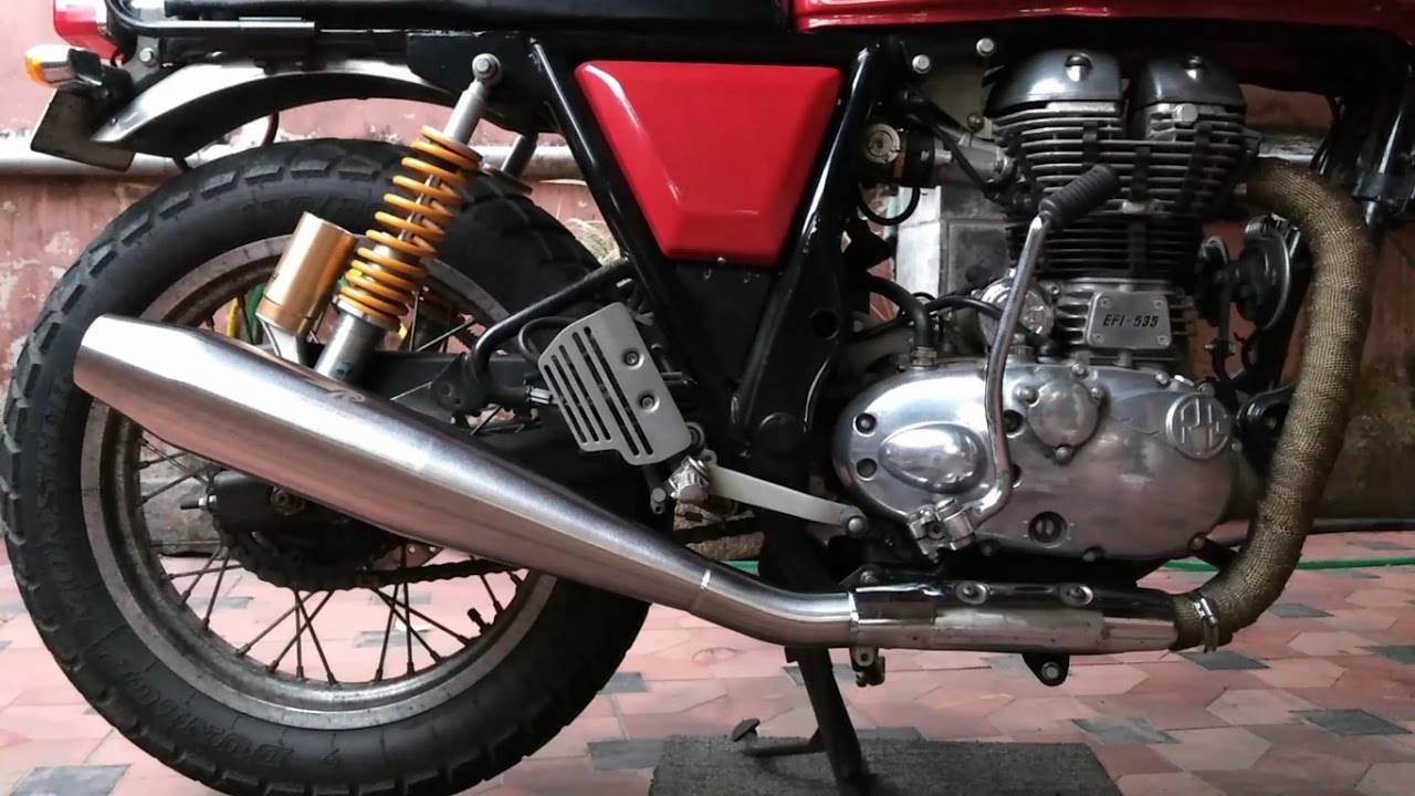 Red Rooster Performance Exhaust Royal Enfield Continental Gt Diy