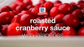 Roasted Cranberry Sauce With Jalapeños
