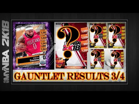MyNBA2k18   GAUNTLET RESULTS   Superstar ++ NEW Draft Board Pull Rates   First Event Card  