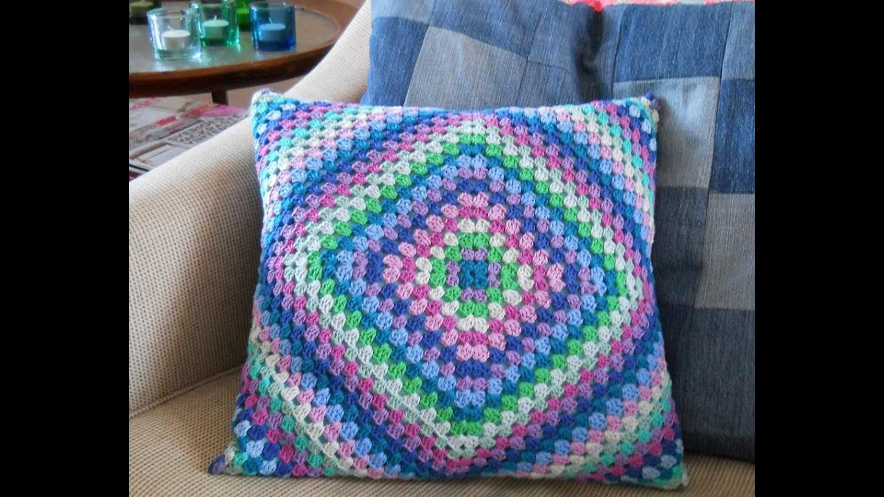 CROCHET CUSHION COVER YouTube Best How To Crochet A Pillow Cover