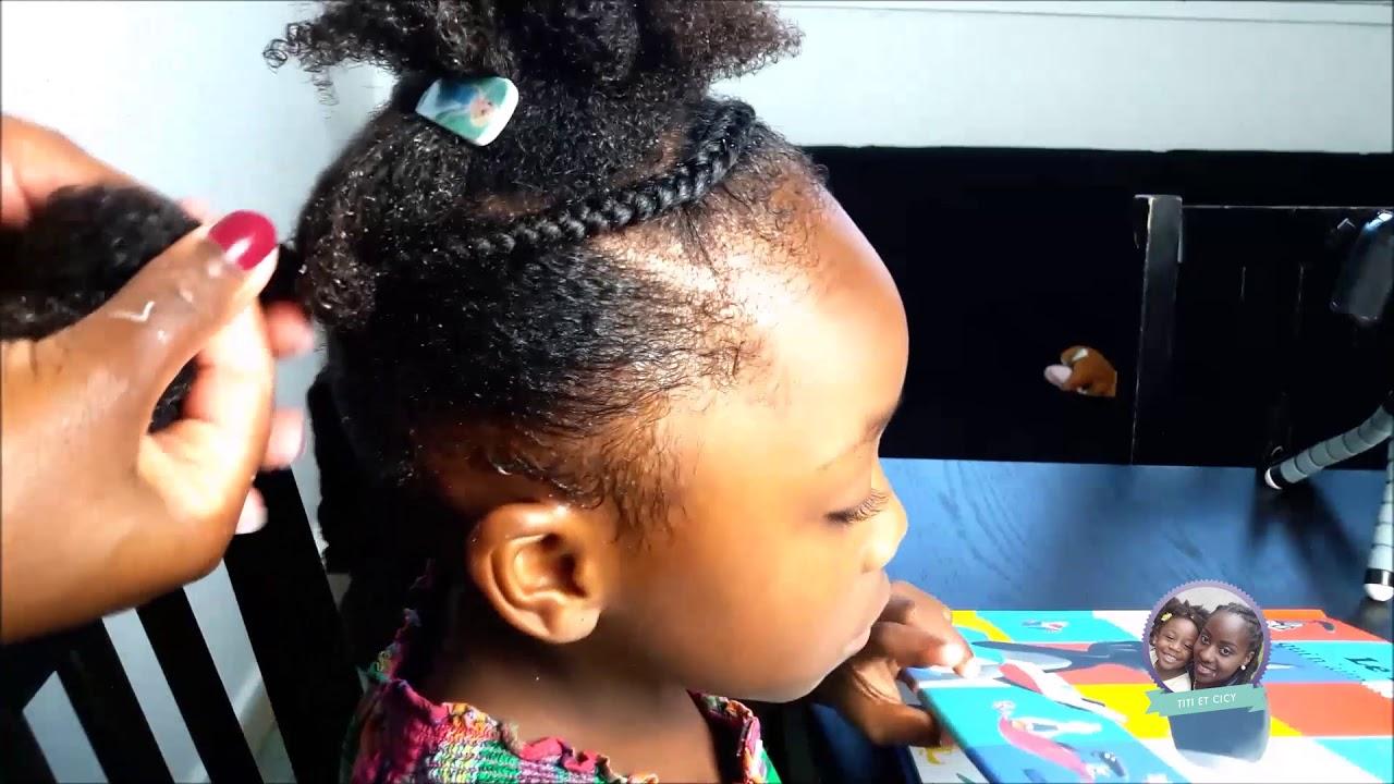 Tuto Coiffure Enfant Cheveux Afro Youtube