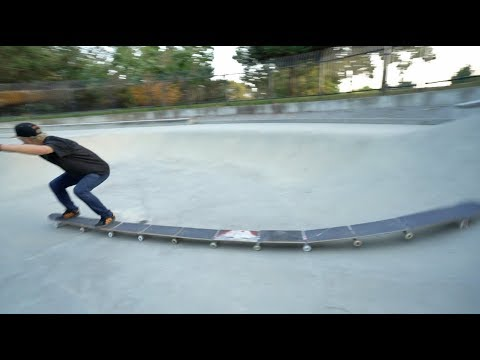 The Centipede Skateboard (World's longest skateboard) | Garrett Ginner