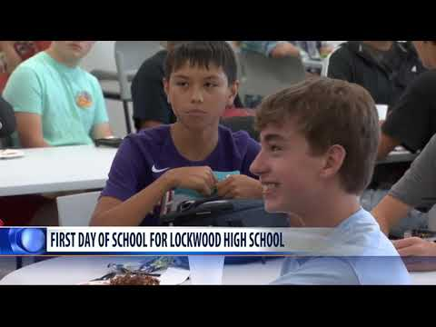 Lockwood High School celebrates its first day of school... ever