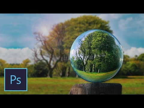 How To Make GLASS BALL Effect - Photoshop Tutorial