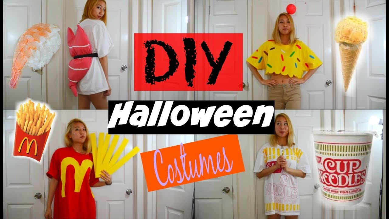 diy halloween costumes for teen food edition ice cream sushi fries cup noodles youtube