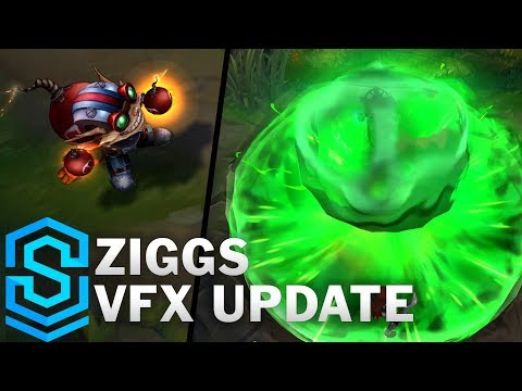Ziggs Visual Effect Update Comparison - All Affected Skins | League Of Legends
