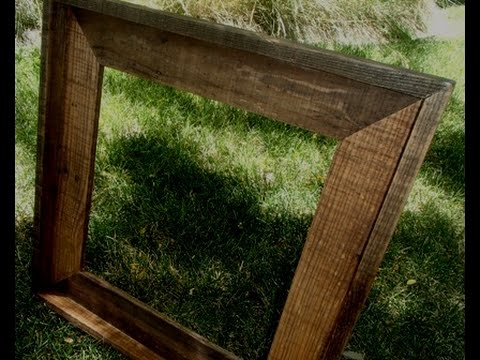 Simple Pallet Wood Picture Frame Build