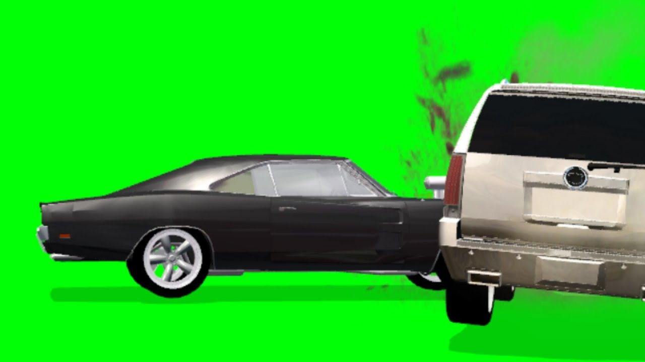 Car Crash Fx Effect With Sound Green Screen