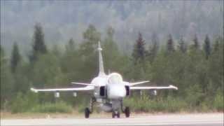 Saab JAS 39 Gripen Takeoff at Rovaniemi Airport   EFRO