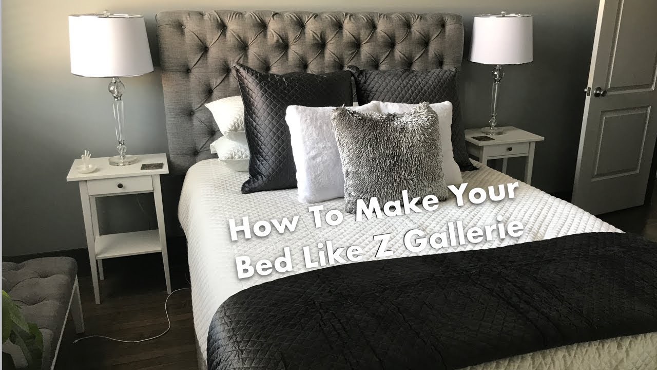 HOW TO MAKE A BED LIKE Z GALLERIE!