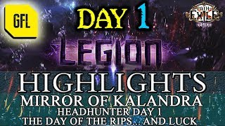 Path of Exile 3.7: LEGION DAY # 1 Highlights MIRROR OF KALANDRA, HEADHUNTER DAY 1