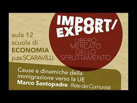 Import / Export Cause e dinamiche dell'immigrazione verso l'UE. Intervento telefonico ASIA-USB