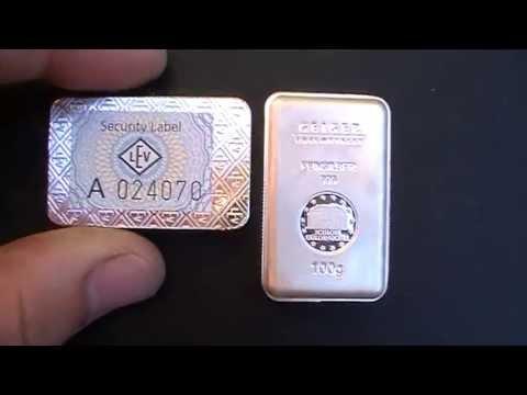 100g Geiger Edelmetalle Minted Silver bars