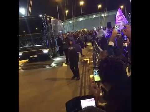 Manchester City Vs Monaco | Man City bus arrived UEFA CHAMPIONS LEAGUE 21 / 02 / 2017