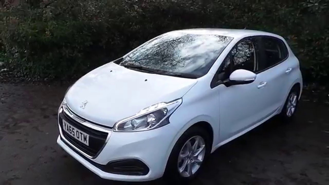 2016 65 peugeot 208 1 2 puretech active 5dr in white youtube. Black Bedroom Furniture Sets. Home Design Ideas