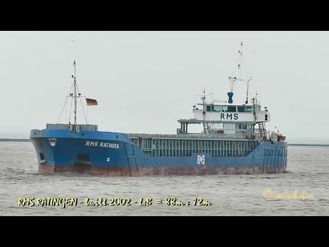 coaster RMS RATINGEN V2DK IMO 9249831 Emden seaship merchant vessel KüMo Seeschiff