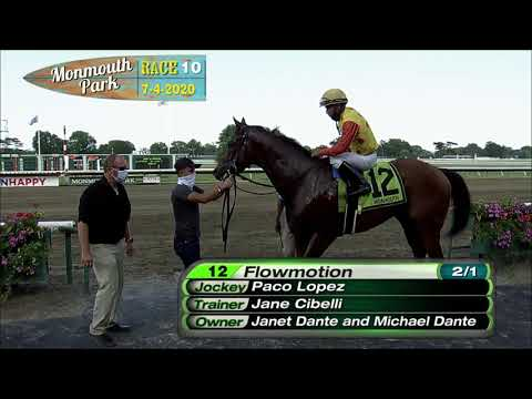 video thumbnail for MONMOUTH PARK 07-04-20 RACE 10 – MALOUF AUTO GROUP STARTER 1