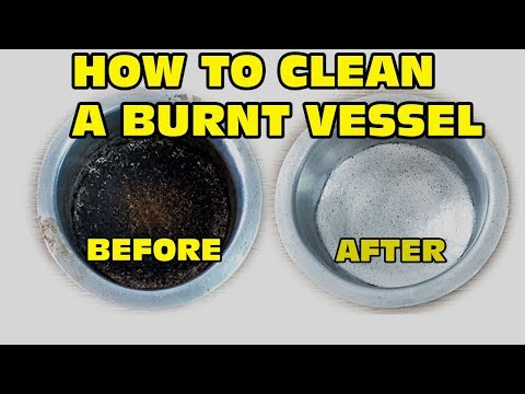 How to clean burnt vessel l DIY l  Burnt vessel cleaning l  Cooking with Benazir