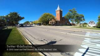 Michigan Avenue traffic at Hall Street: Saline, Michigan Sept 23 2015